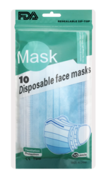 10 Count Protective Disposable Face Masks