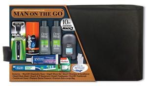 Men's Premium 10 PC Assembled Travel Kit in Black Toiletry Bag