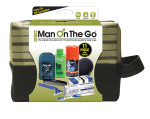 Man on the Go 11 pc. Premium Travel Kit