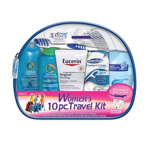 Women's Deluxe 10 PC Assembled Travel Kit