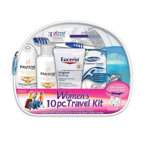 Women's 10 PC Assembled Travel Kit