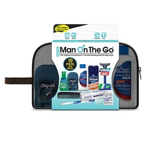 Man on the Go 10 pc Premium Travel Kit with Barbasol Shave Cream