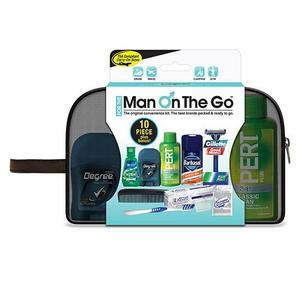 Men's Deluxe 10 PC Assembled Travel Kit in Mesh Bag
