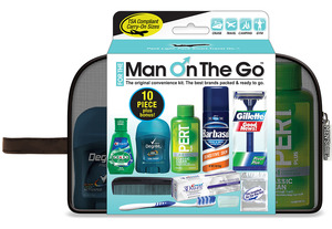 Men's Deluxe 10 pc Travel Kit for the Man On The Go™