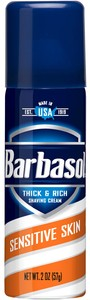Barbasol Shave Cream 2 oz.