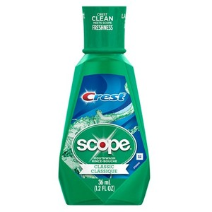 Scope with Crest Mouthwash 1.2 oz.