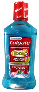 Colgate Total Alcohol Free Mouthwash 2 oz.