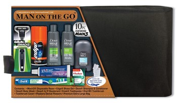 Men's 10 pc Premium Travel Kit