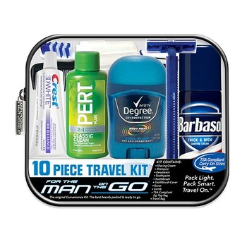 Men's 10 pc Deluxe Hygiene Kit