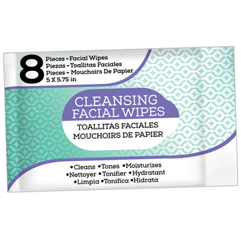 Facial Wipes 8 ct., bilingual