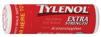 Tylenol Caplet Vial 10 ct.