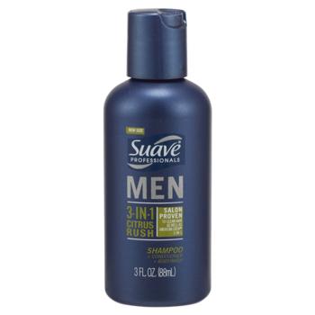 Suave Men 3in1 Shampoo Conditioner Body Wash 3 oz.