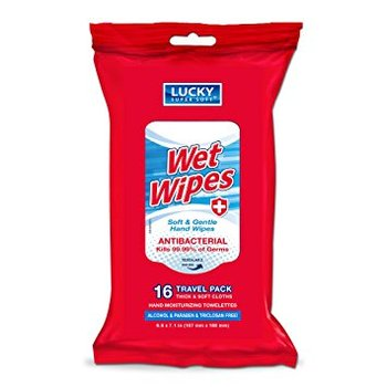 Wet Wipes (Antibacterial) 16 ct.