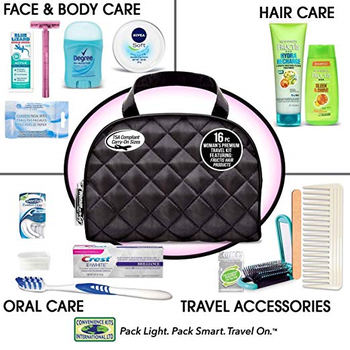 Women's Premium 16 PC Assembled Travel Kit