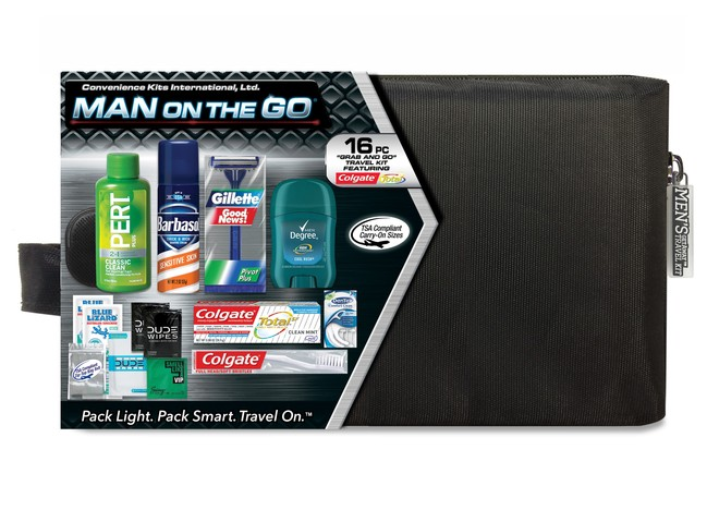 Men's Premium 16 pc Assembled Travel Kit in Zippered Bag