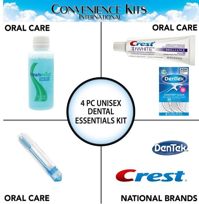 Unisex 4 pc Dental Kit