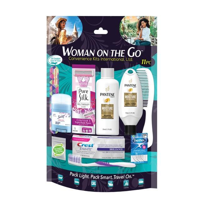 Women's 11 pc Travel Kit featuring Pantene