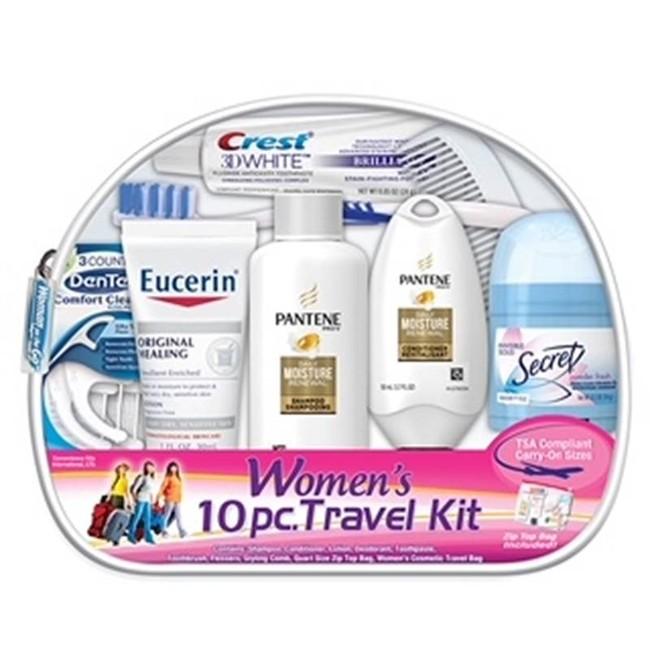 Women's 10 PC Assembled Travel Kit